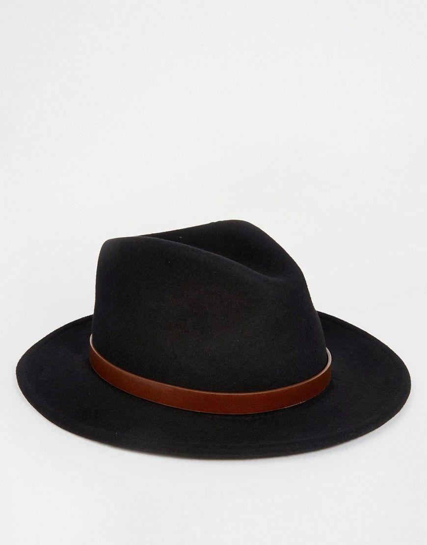 69df2b98dbe5 Brixton - Messer - Panama - Noir   Les chapeaux de Coco ...