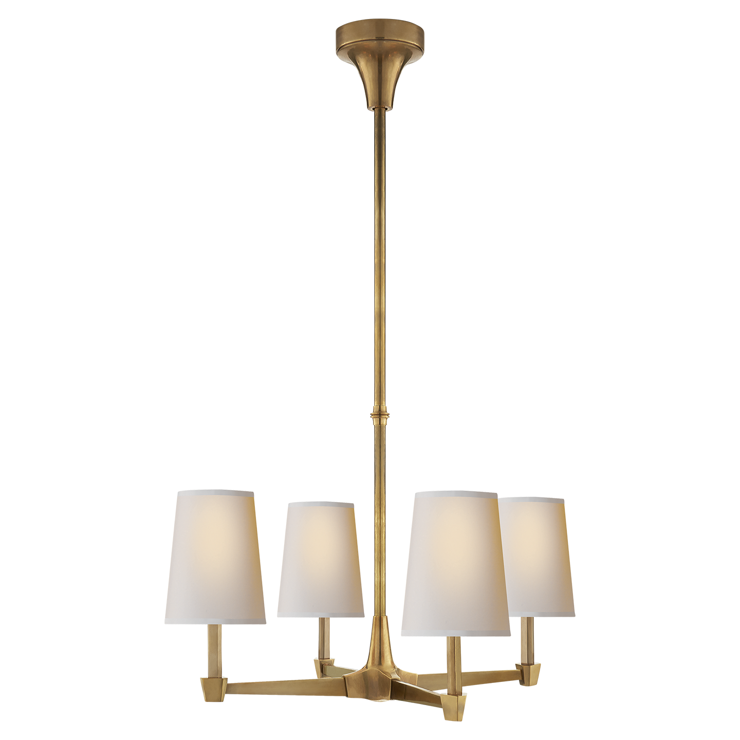 Caron Small Chandelier in Bronze and Hand-Rubbed Antique ...