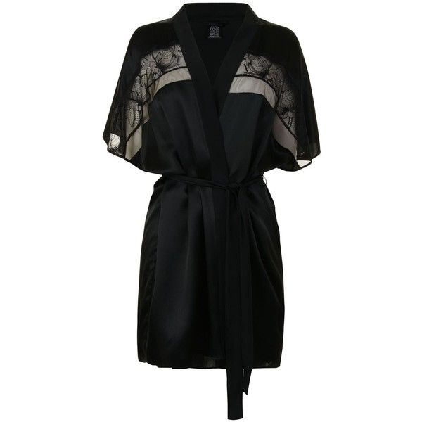 CALVIN KLEIN Silk Robe ($190) ❤ liked on Polyvore featuring ...