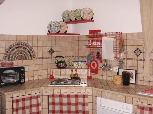 Visualizza immagine di origine piastrelle pinterest for Tendine per cucina rustica