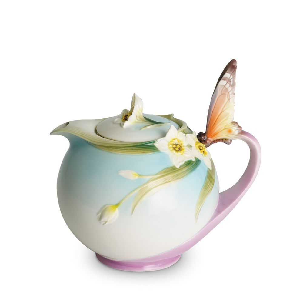 Franz collection papillon butterfly teapot tea pinterest this butterfly teapot from the papillon collection of franz porcelain pays stunning and reverent tribute to the brilliance of natures own artistry reviewsmspy
