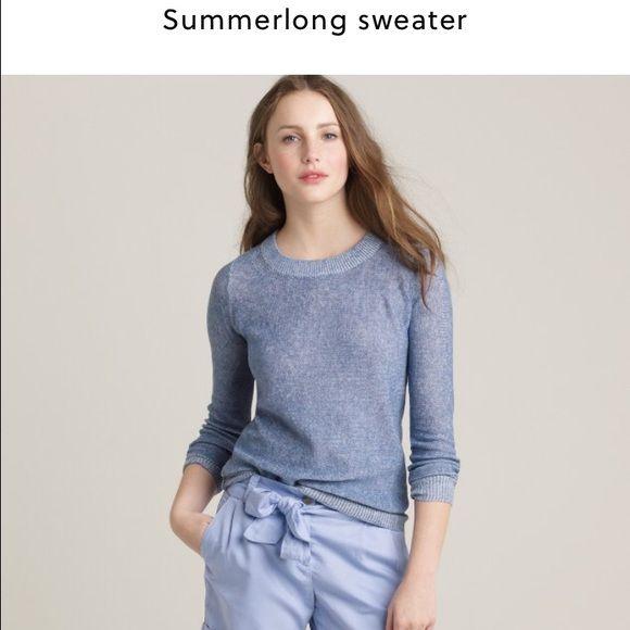 J.Crew Summerlong sweater White summer long crewneck sweater from J.Crew retail. 100% linen J. Crew Sweaters Crew & Scoop Necks