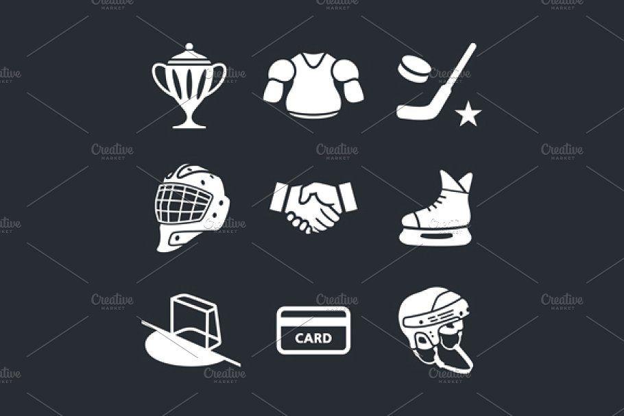 Hockey Custom Designed Icons In 2020 Initials Logo Design Icon Collection Luxury Brand Logo