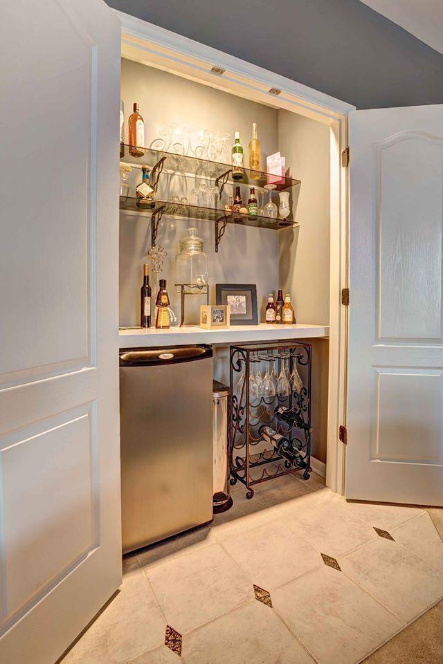 Convert A Closet In Your Bonus Room Perfect For A Wet Bar You Can Do This Wet Bar Designs Wet Bar Bar Design