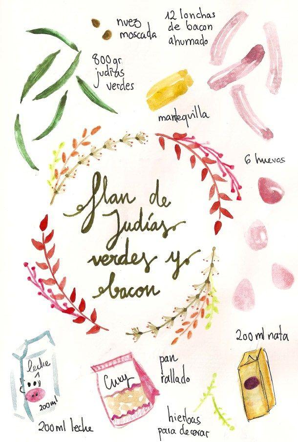 Pastel de judías verdes recetas light recetas sanas ilustradas