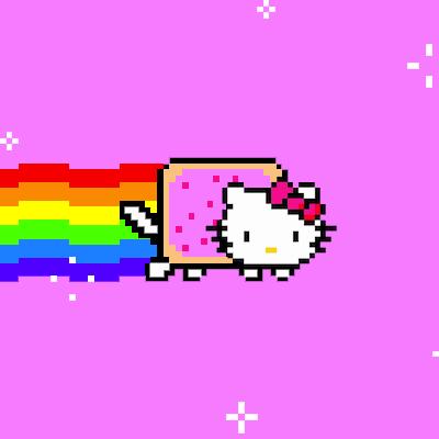 Hello Kitty Nyan Cat Gif Hello Kitty Tumblr Nyan Cat Hello Kitty Wallpaper