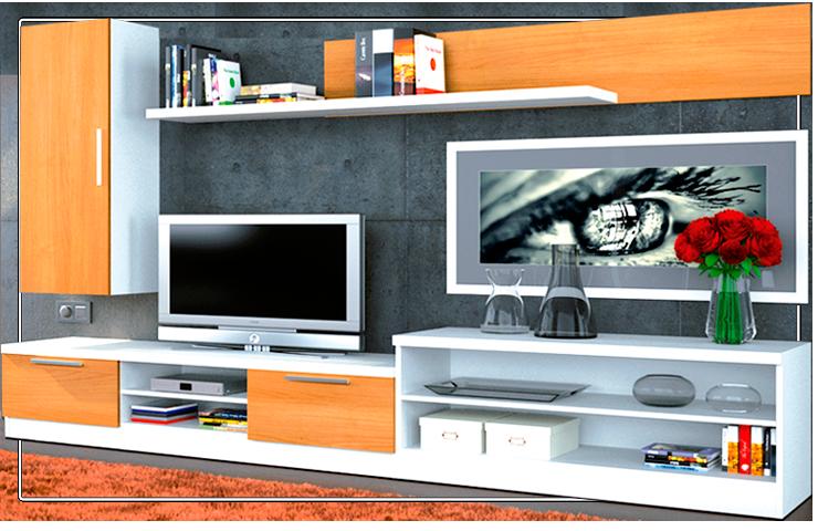 Moderna Composición de Muebles de Salón.