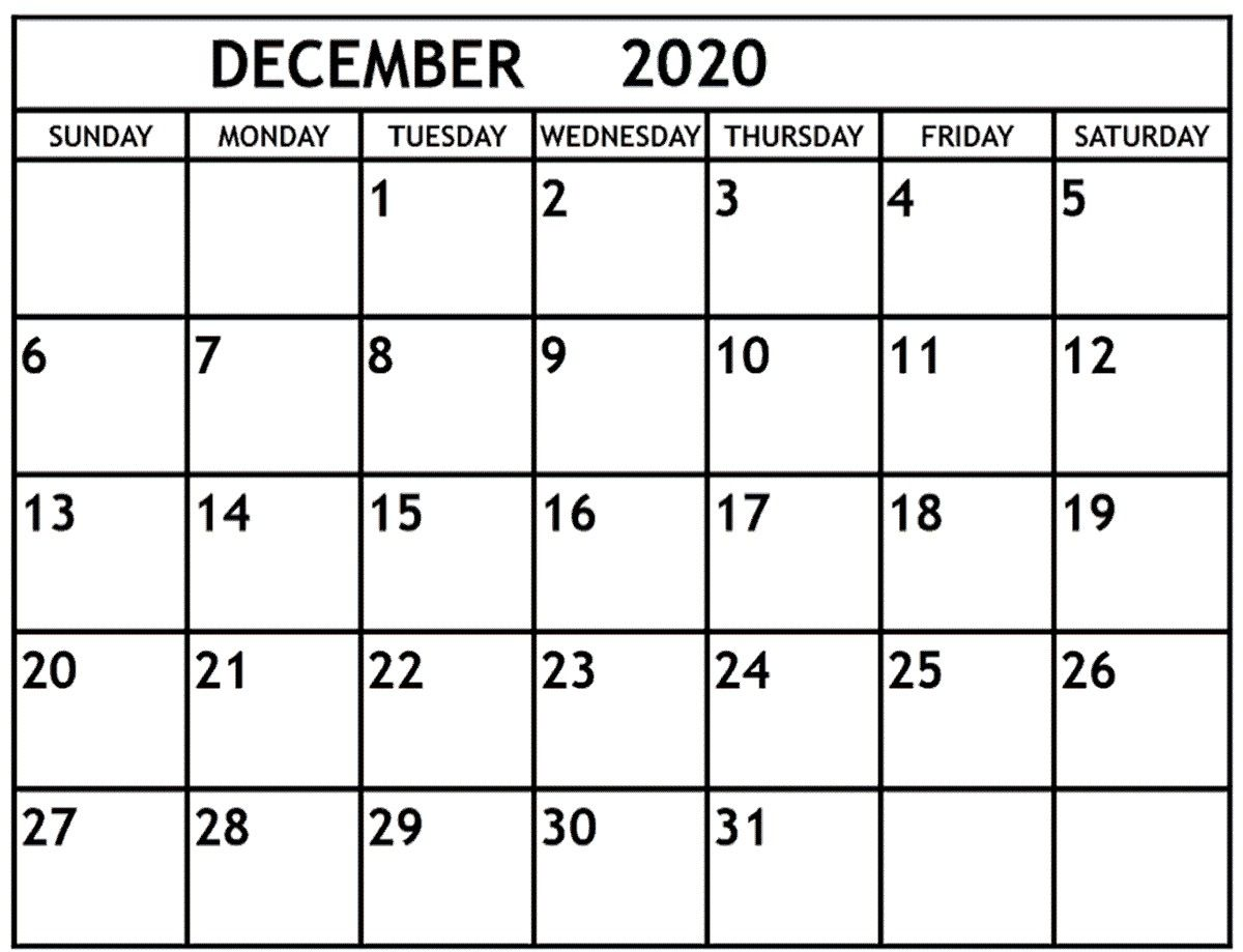 December 2020 Calendar December 2020 Printable Monthly Calendar November 2020 Printable Ca Monthly Calendar Printable November Calendar Calendar 2019 Printable