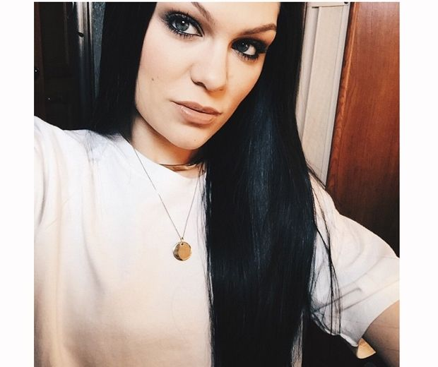 Jessie J often mixes up her hair, seen here working long black extensions last month