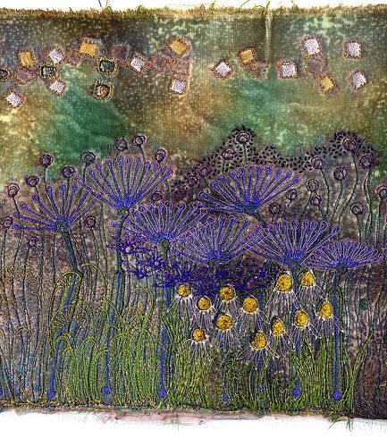 Fabric Art with Velvet - Angie Hughes teaches creative textiles and fabric art on velvet with her Inspired Velvet dvd which you can buy at  www.colouricious.com