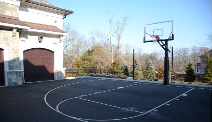 View Our Linkedin Post On The Ideal Requirements For A Driveway Basketball Court Basketball Court Backyard Backyard Basketball Home Basketball Court