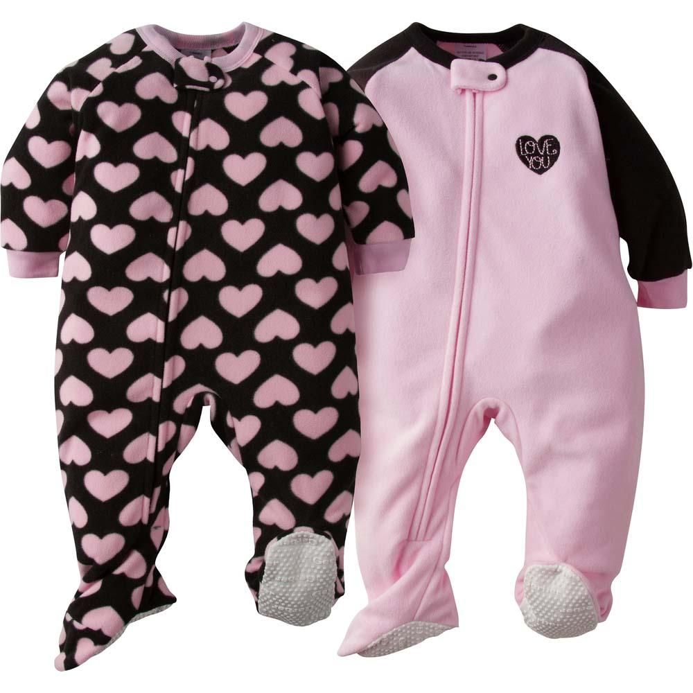 2-Pack Baby Girl Pink Hearts Blanket Sleepers | Girl outfits, Baby kids  clothes, Baby clothes