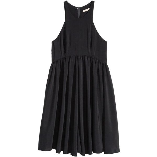 H&M Short dress ($47) ❤ liked on Polyvore featuring dresses, black ...