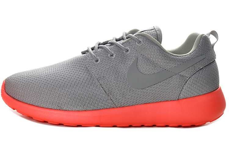 All Size Nike Roshe Run Mesh Junior Mens Gray Red Running Shoes