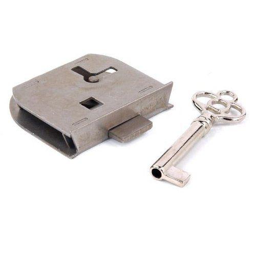 Pol Steel Half Mortise Lock Key Right Hand Mortise Lock Polished Steel Antique Hardware