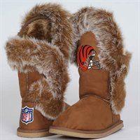 Cuce Shoes Cincinnati Bengals Ladies Fanatic Boots