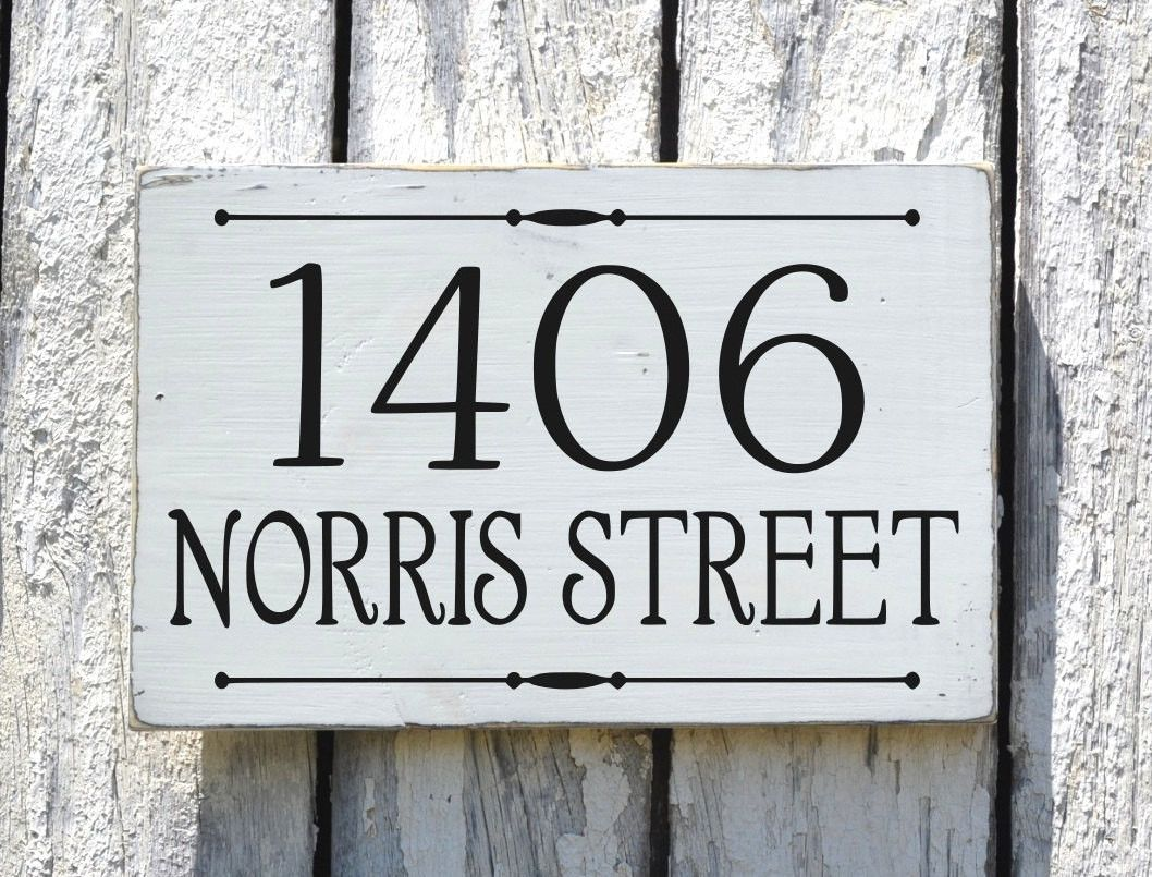 Address Plaque Custom House Numbers Sign Painted Personalized Outdoor Wood Home Number Signage Rustic Hanging Lamp Post Fence Porch Signs