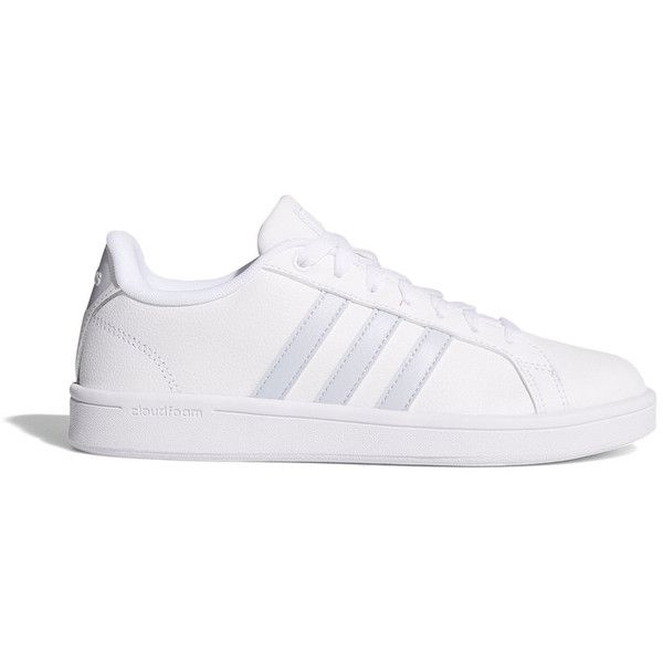 adidas neo cloudfoam advantage stripe women's metallic shoes