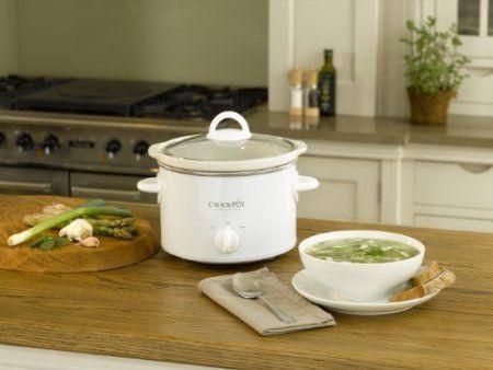 Crock-Pot Slow Cooker, 2.4 Litre - White: Amazon.co.uk: Kitchen & Home