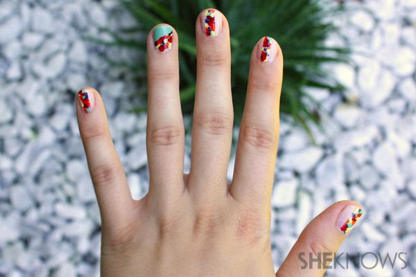 I like the concept but want a bit more chaos in the edges of the floral..    Fashion Week: Rebecca Minkoff-inspired floral nails