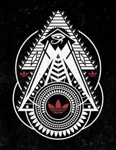 Adidas Originals (Black And White Series)   Adidas logo