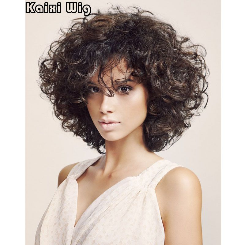Medium Curly Hairstyles Korte Krullend Pruiken Voor Zwartwit Vrouwen Beste Synthetische
