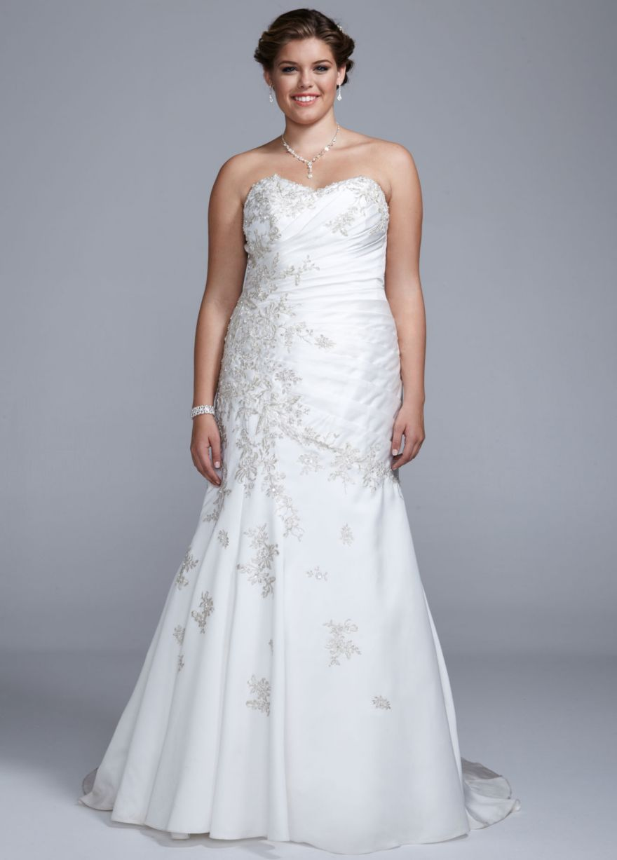 Satin Trumpet Gown with Sweetheart Neckline - David\'s Bridal | Dress ...