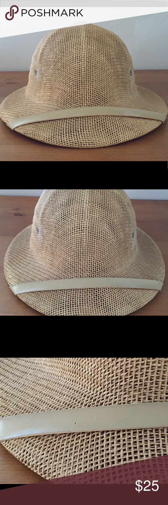 5c8810b1e52c7b Vintage Sun Fari Safari Hat with adjustable band Original Safari hat! So  awesome. Reminds