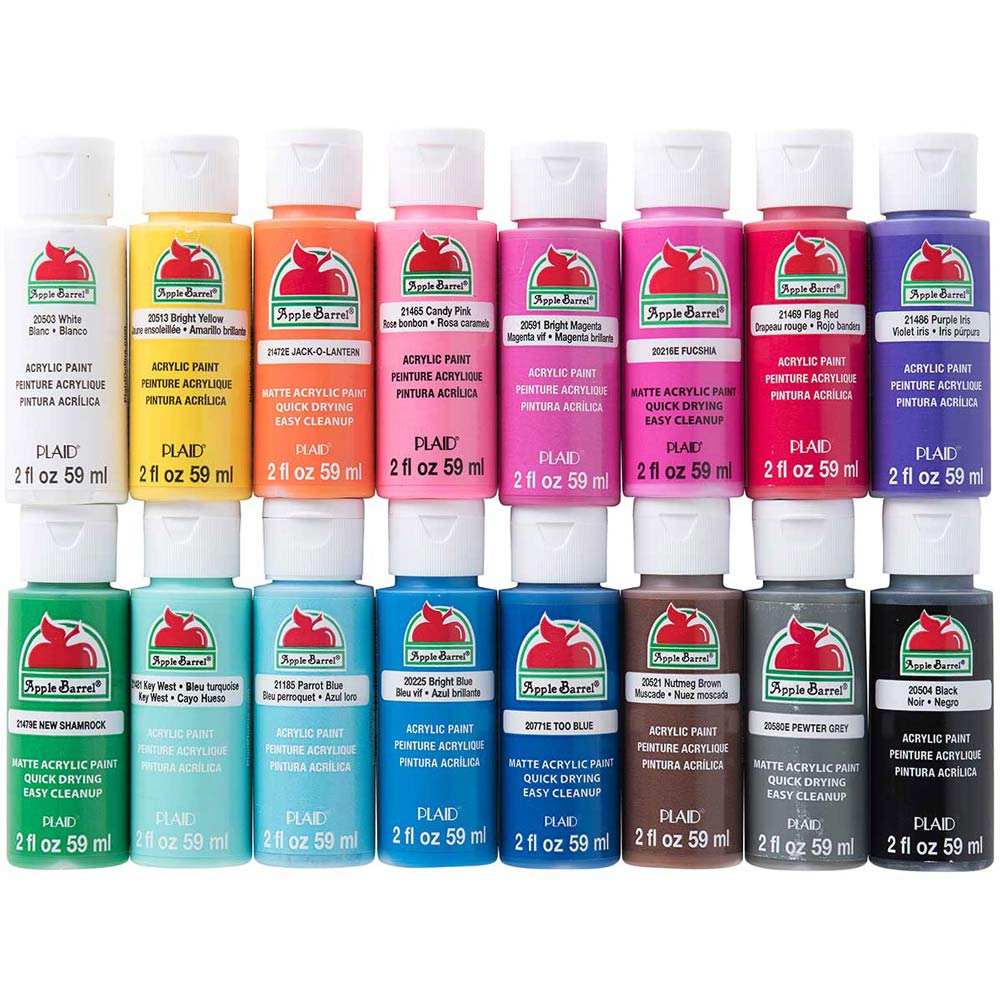 Apple Barrel ® Colors Acrylic Paint 16 Color Set in 2019
