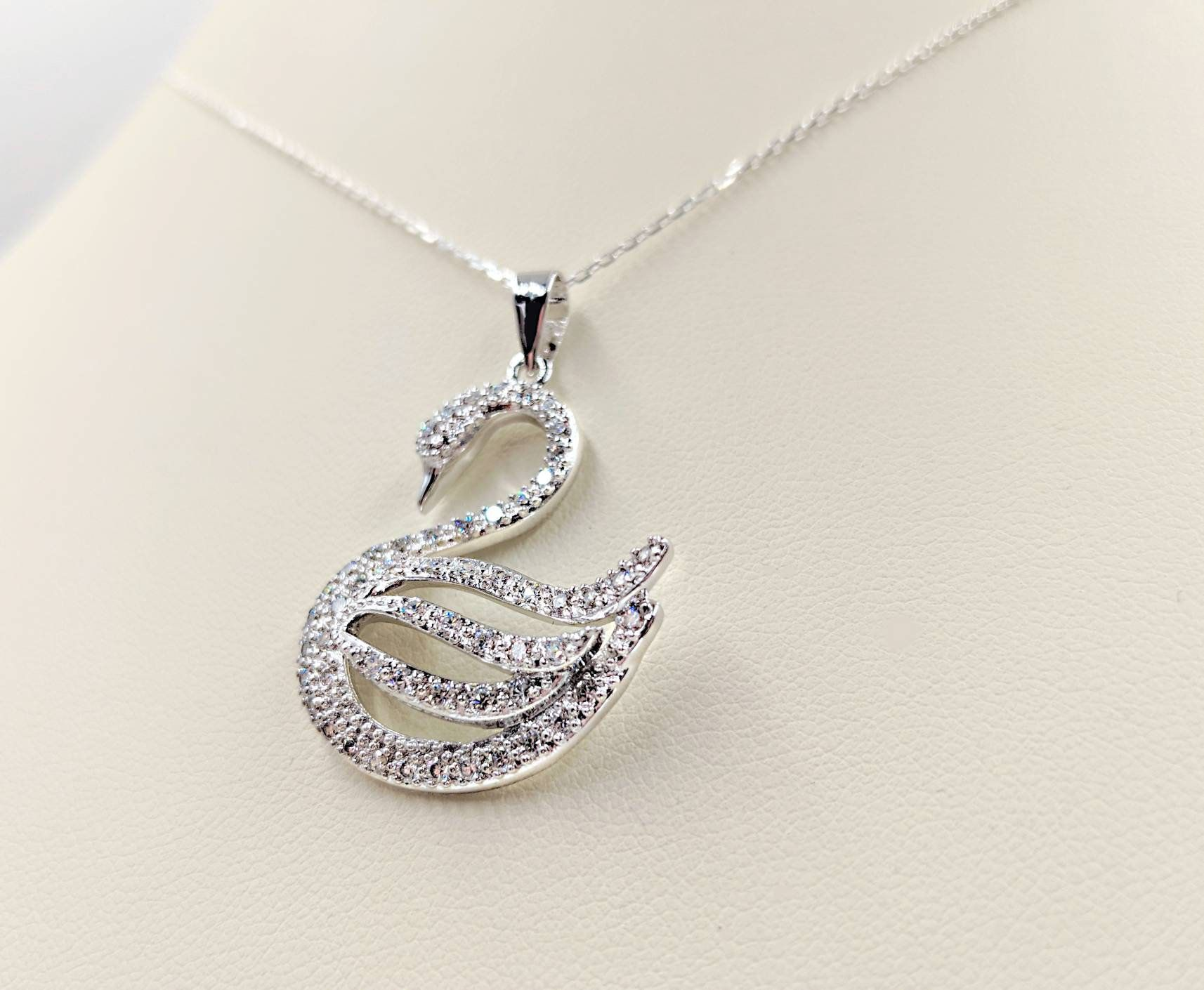 Sterling Silver Antiqued Swan Charm