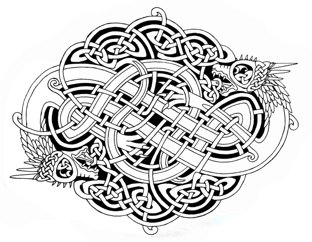 celtic dragons 2 by feivelyn inspirerende idéer pinterest