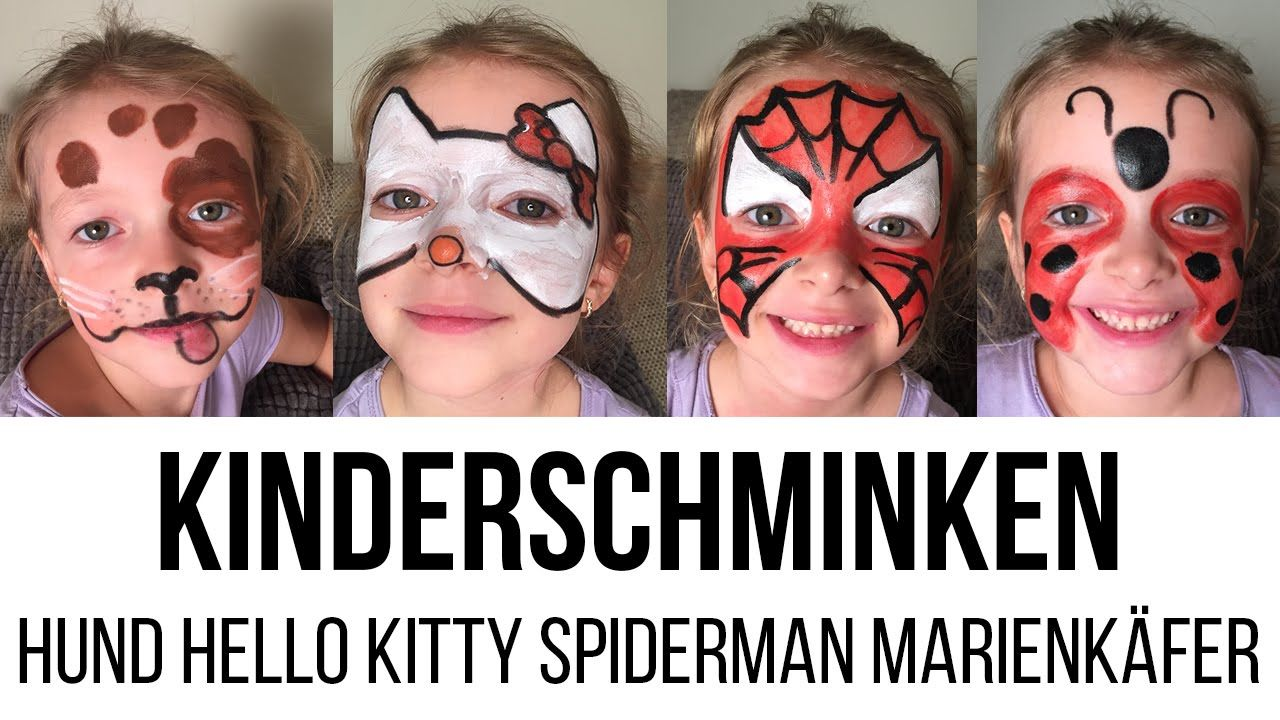 HOW TO: Kinderschminken – Hund, Hello Kitty, Spiderman, Marienkäfer –  ...