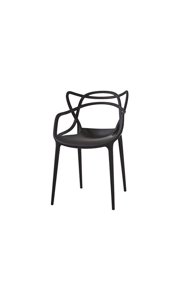 600 Kartell Masters Chair Pack Of 2 Black Seat Chair Back