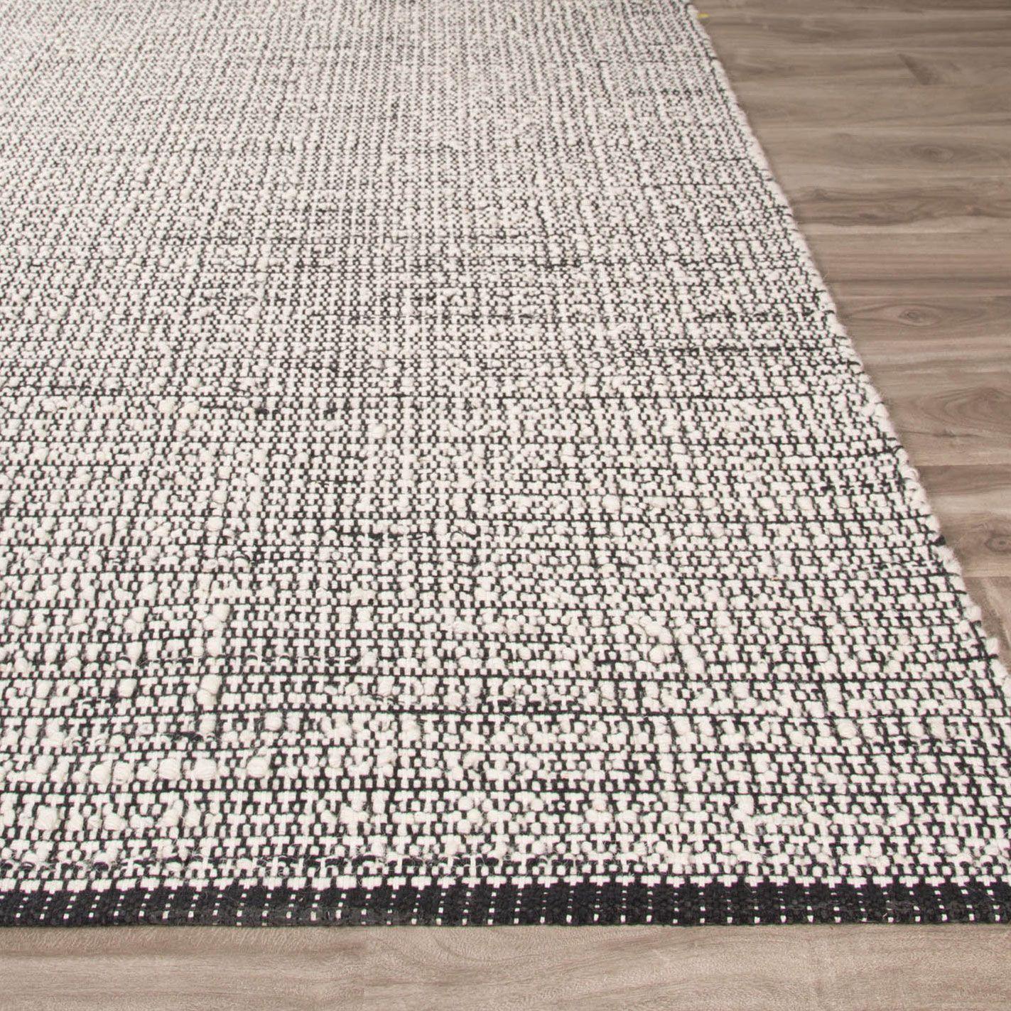 Kate Spade New York By Jaipur Flatiron Turner Tweed Black Flat Weave Rug Laylagrayce