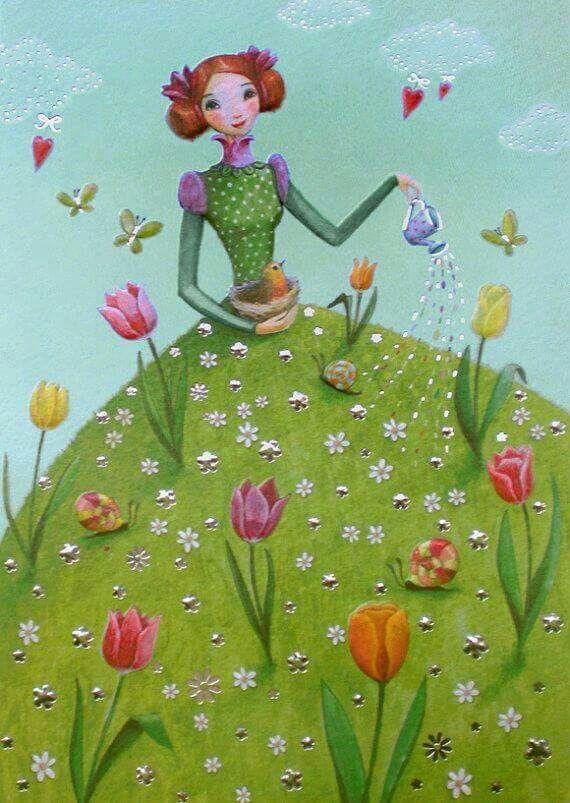 Regando as flores que há em mim! Dani Cabo