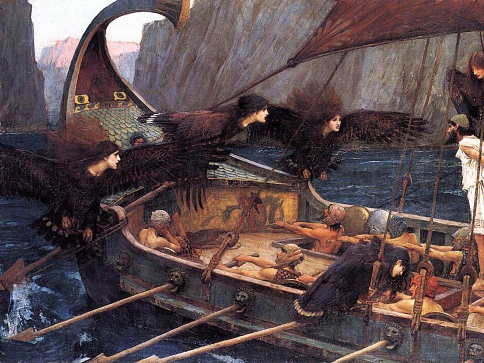 Painting Ship Siren Artwork John William Waterhouse Greek Mythology Odysseu 1820x900 Wallpape Art Hd Wa Sirene Creature Mitologiche Summary Of Daffodil 9th Class