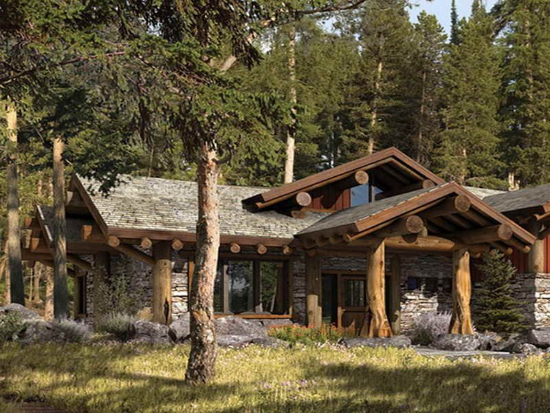 Small Rustic Home Plans With Mountain