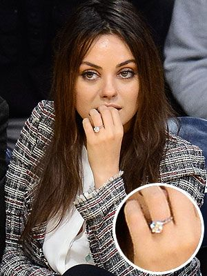 Mila Kuniss Engagement Ring From Ashton Kutcher New Photo and
