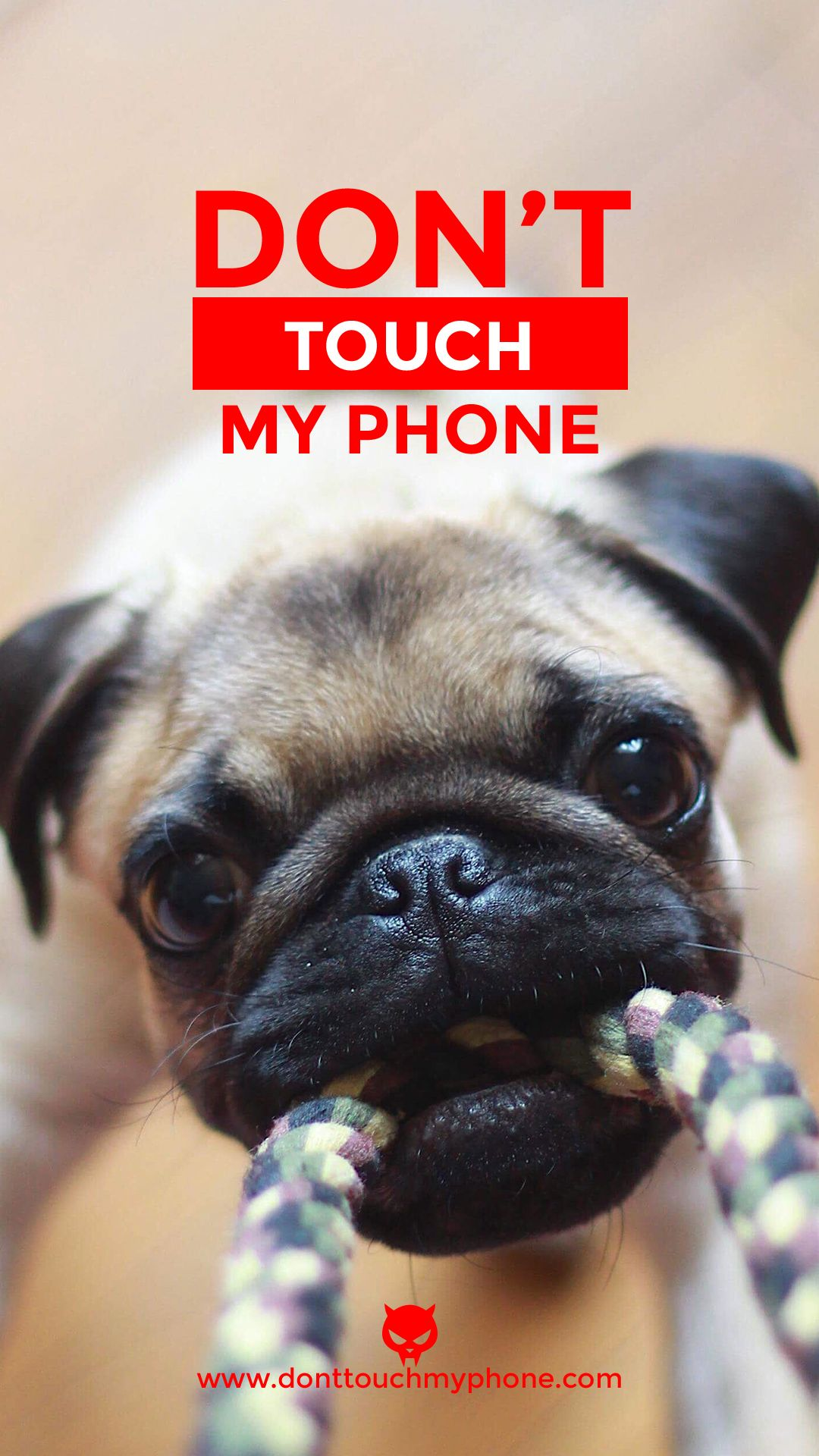 Cute Dog Lock Screen Dont Touch My Phone Wallpapers Cute Mobile Wallpapers Cute Emoji Wallpaper