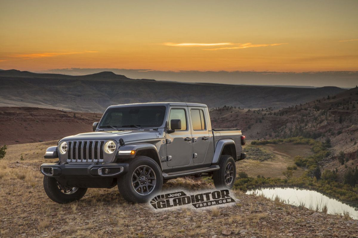 2020 Jeep Gladiator Pickup Truck Images And Specs Leak Online Jeep Gladiator Wrangler Pickup Jeep Wrangler Pickup