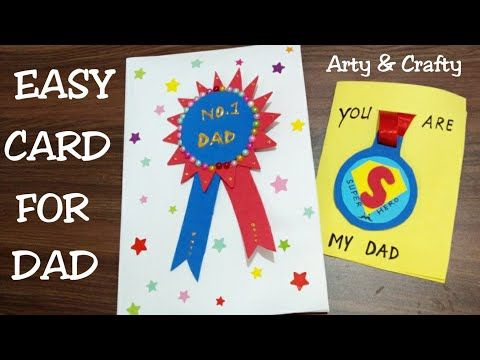 Diy Badge Card For Father Gift Idea For Father S Day Handmade Greeting Card For Father S Day Greeting Cards Handmade Handmade Greetings Paper Greeting Cards
