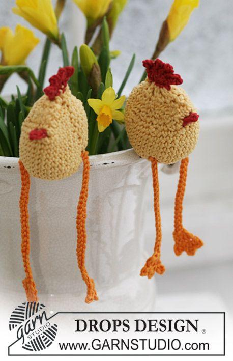 "DROPS Extra 0-542 - Crochet DROPS Easter chicken in ""Muskat"". - Free ..."