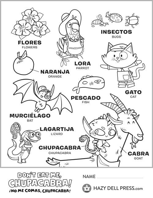 Spanish Vocabulary Coloring Sheet Leprechaun Activities Writing Activities Abc Coloring