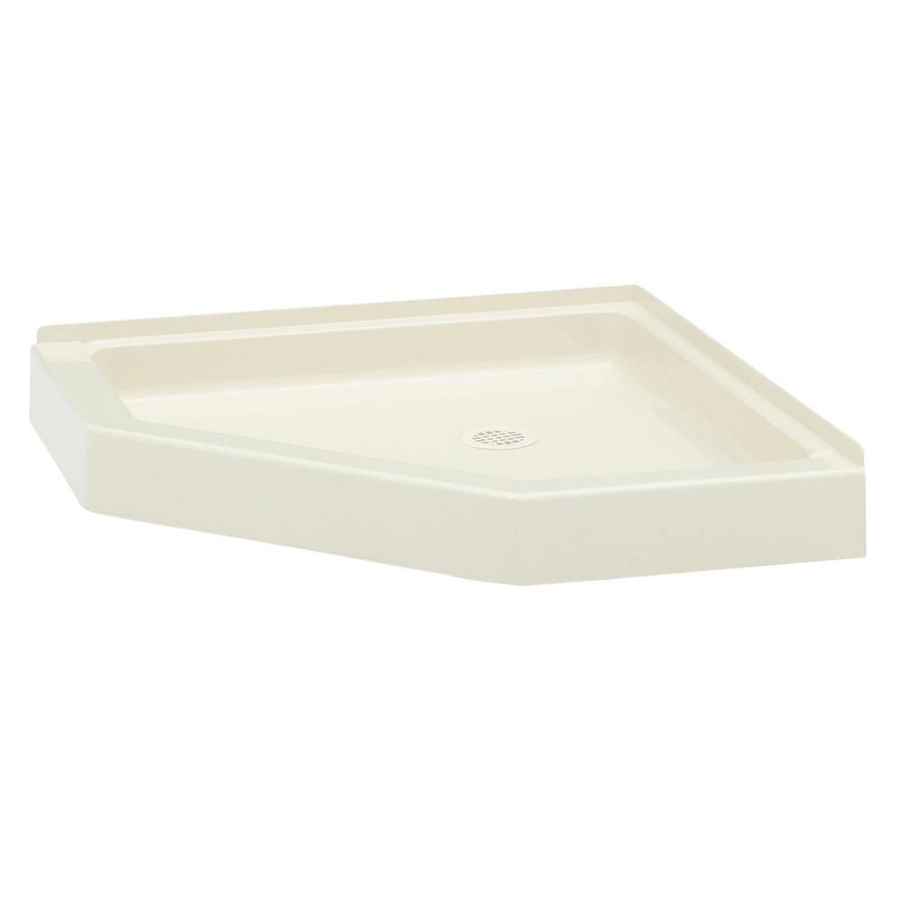 Swan Neo Angle 36 In X 36 In Solid Surface Single Threshold