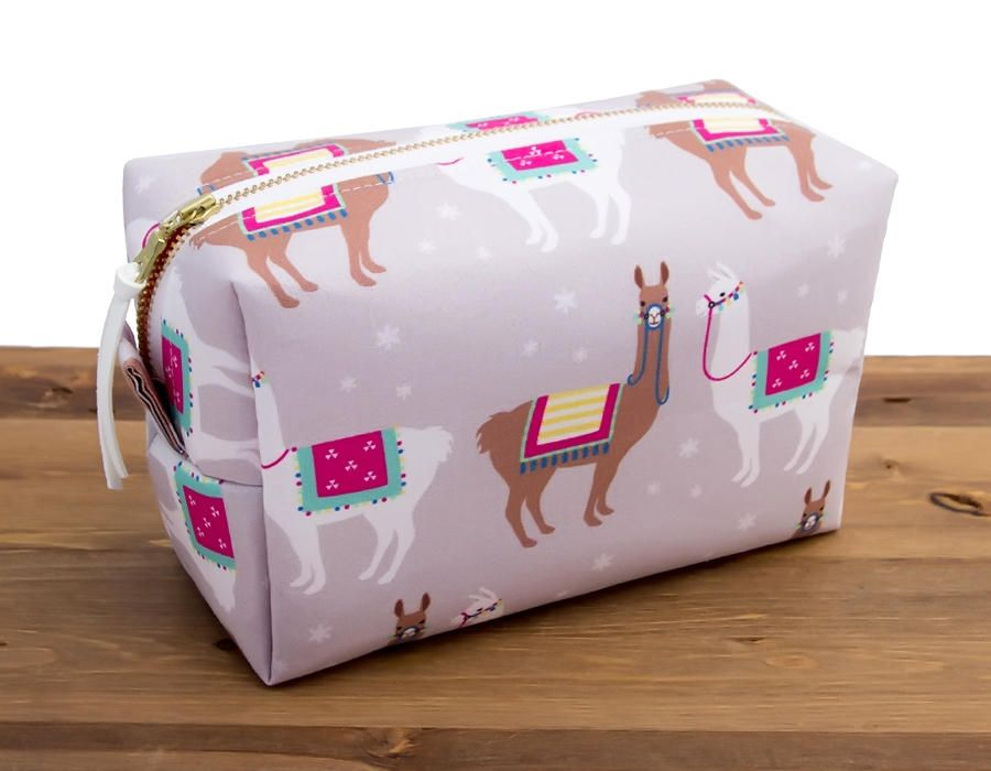 Llama Bag Less Drama More Llama Makeup Case Multi Purpose Pouch Pencil School