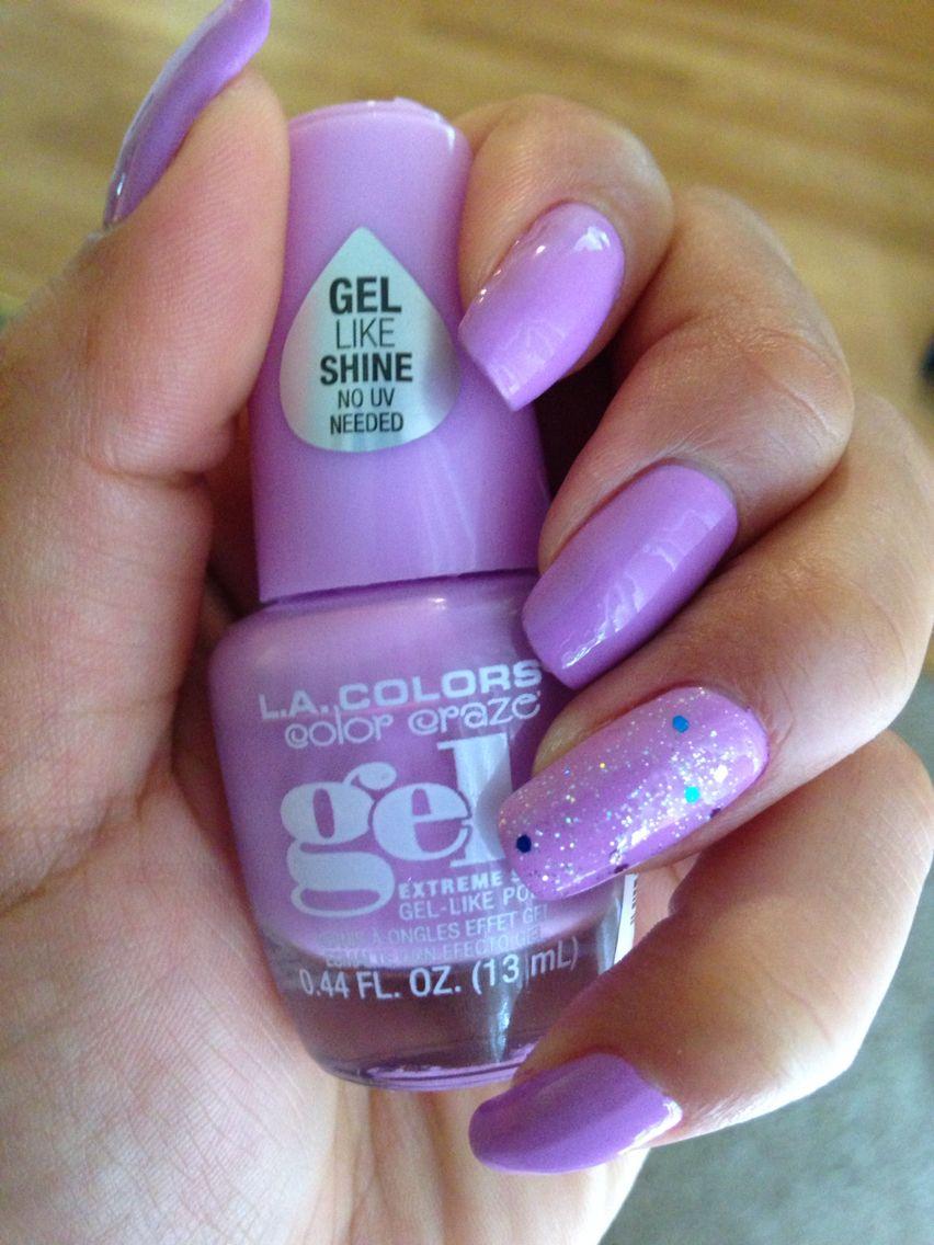 Lilac Purple By La Colors Color Craze Gel Polish In The Color Damsel Cute Nail Designs Nail Colors Nail Polish