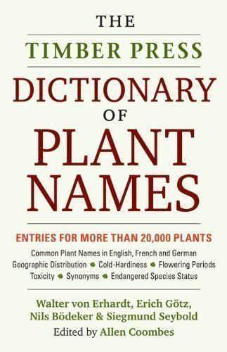 Dictionary Of Plant Names The Pronunciation Derivation And Meaning Of Botanical Names And Their Commo Book Worth Reading Ideas Botany Books Plant Life Cycle
