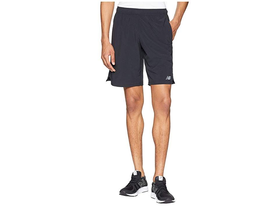 New Balance Tenacity Woven Shorts (Black) Men's Shorts. Get in the game with the high-performance New Balance Tenacity Woven Shorts. Fitted to hug the body while still leaving room for movement. NB DRY technology wicks perspiration away from the body and towards the surface where it can evaporate. Lightweight poly-stretch blend delivers all-day comfort and unrestricted mobility. Elastic waistband with interior drawstring. On-s