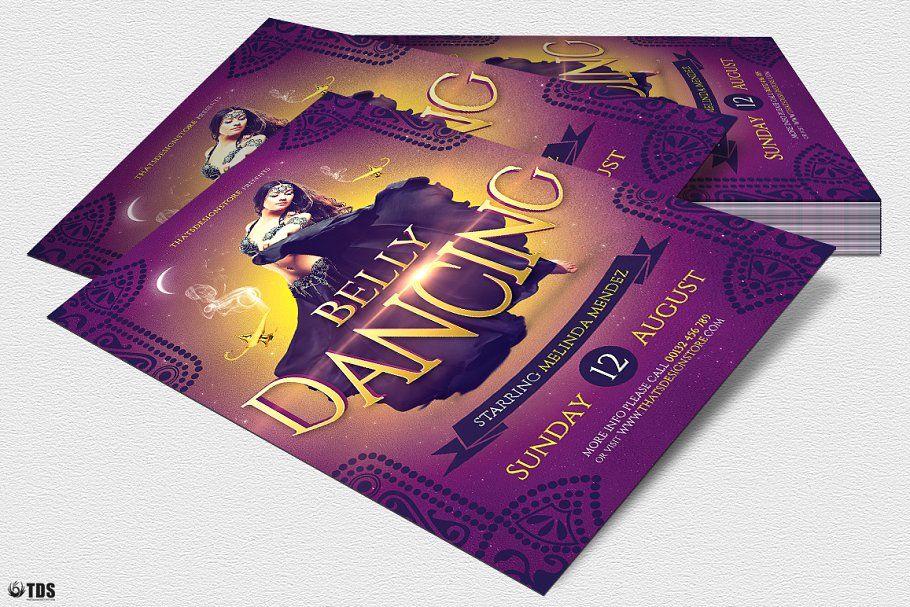 Belly Dancing Flyer PSD DancingBellyFlyerTemplates