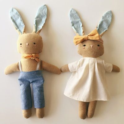 bobby and beatrice bunny - Hickory Juniper